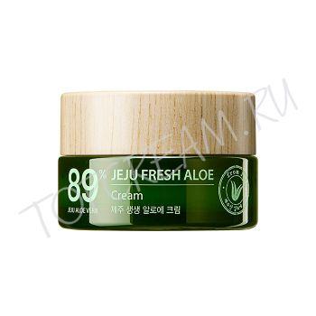THE SAEM Jeju Fresh Aloe Cream - Увалажняющий освежающий крем 89% алоэ вера - купить