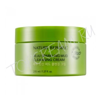 NATURE REPUBLIC Jeju Sparkling Mud Cleansing Cream