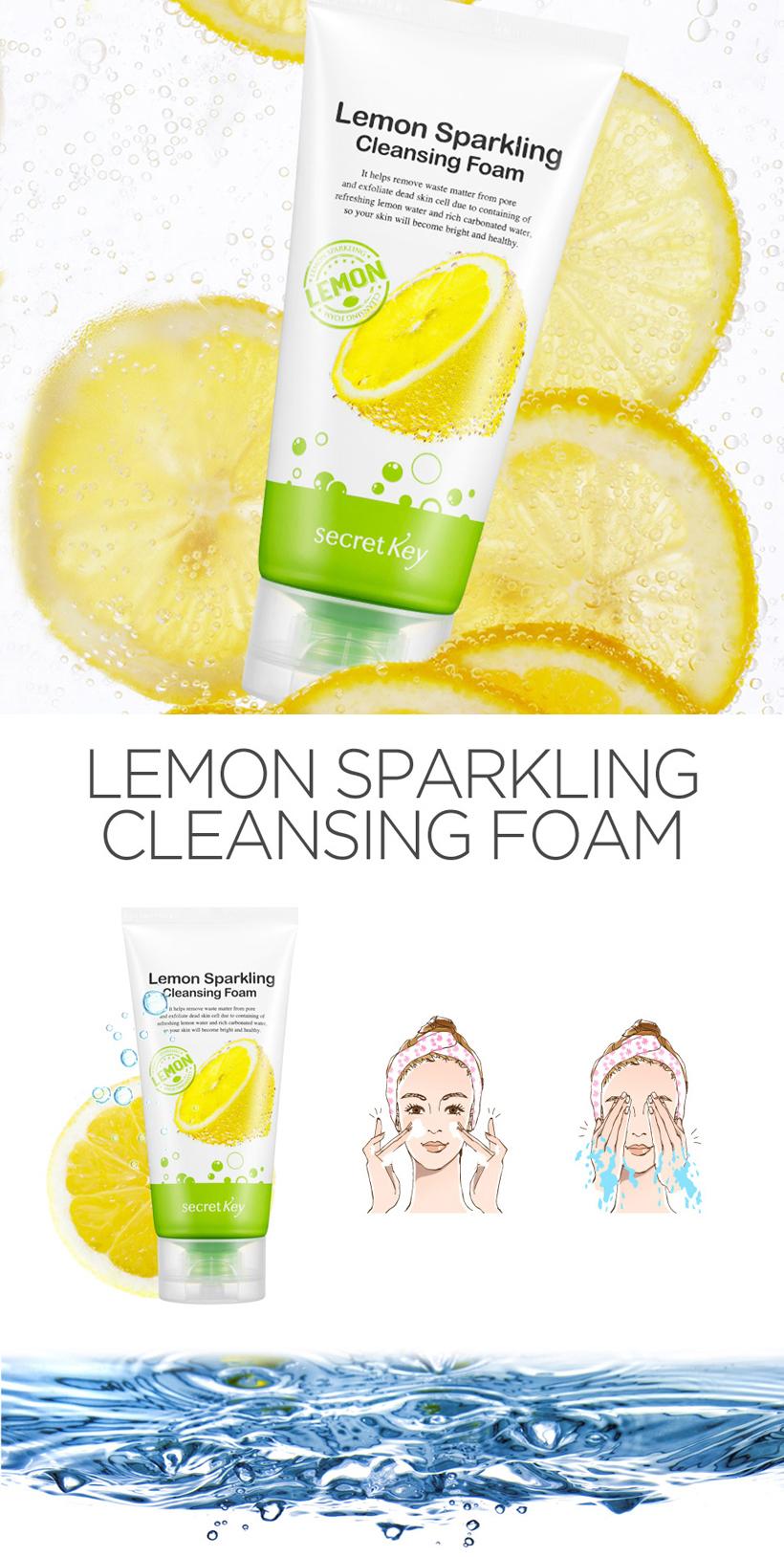Znalezione obrazy dla zapytania secret key lemon sparkling cleansing foam