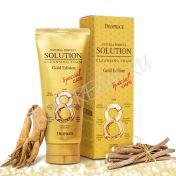 DEOPROCE Natural Perfect Solution Cleansing Foam Gold